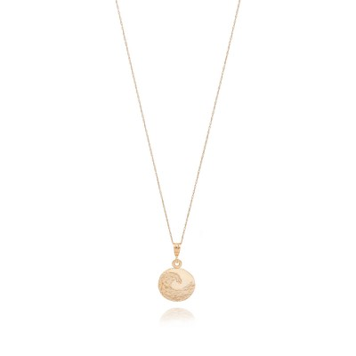 14k Gold Circle with 14k chain Neckless