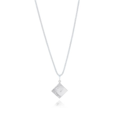 Sterling Silver Diamond on a popcorn chain Neckless